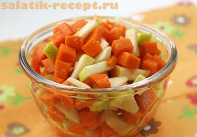 Салат с тыквой и орехами