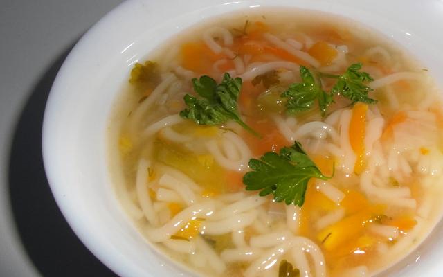 Постные вермишелевый суп